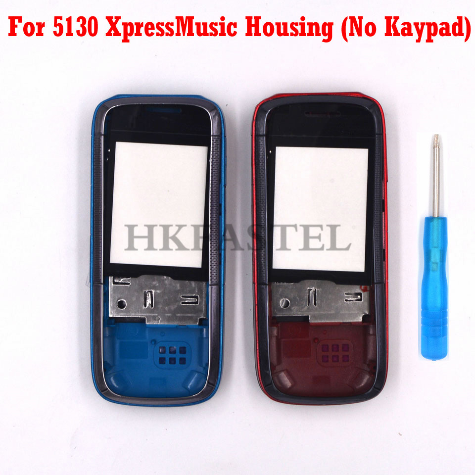 For Nokia 5130 XpressMusic 5130XM New Mobile Phone Housing Cover Case ( No Keypad ) + Tool
