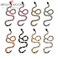 Bright Moon Ins new net red hip hop pendant micro inlaid zircon ten color snake pendant new hip hop jewelry