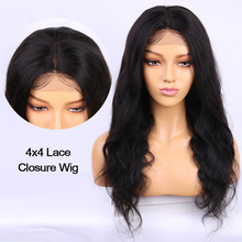 4x4 Lace Closure Wig Alibele Brazilain Body Wave Lace Wig Remy Human Hair Wig Pre Plucked With Baby Hair 150 Desnsity Lace Wig