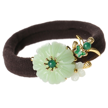 Shell Resin flower Hair Ropes Adult Women Rings Chinese Ethnic Ornaments Ancient style rough rubber band Headwear