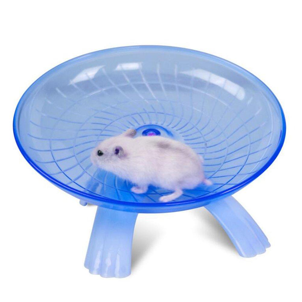 Pet Hamster Flying Saucer Mouse Running Disc Exercise Wheel Toy Cage Accessories Plastic Running Jogging Wheel Red Blue Color Fu
