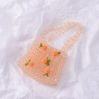 Retro Orange Soda Bag Clear Crystal Bag
