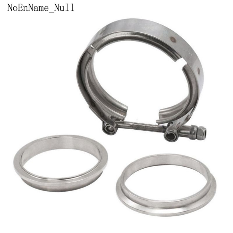 Quick Release V-band Exhaust Clamp Male Female Flanges Kit Stainless Steel Universal V Band Clamp 1.5 2