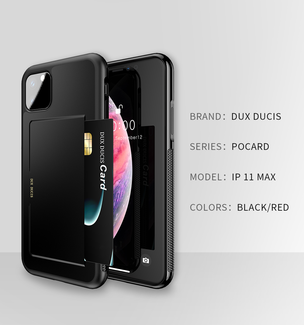 Chirm Card Pocket Case for iPhone 11/11 Pro/11 Pro Max 2