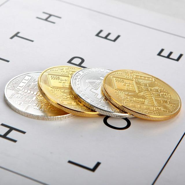 1PCS Creativo Souvenir Placcato Oro Bitcoin Moneta Da Collezione Grande Regalo Moneta Po 'Collezione D'arte Fisica Oro Moneta Commemorativa 4