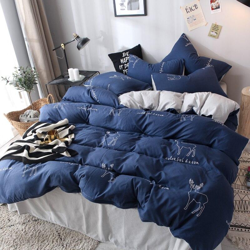 brief cartoon Soft comfortable 4pcs Bedding Set Bed Linen Bed Set Sheet Duvet Cover Pillowcase king queen full twin size in Bedding Sets from Home Garden