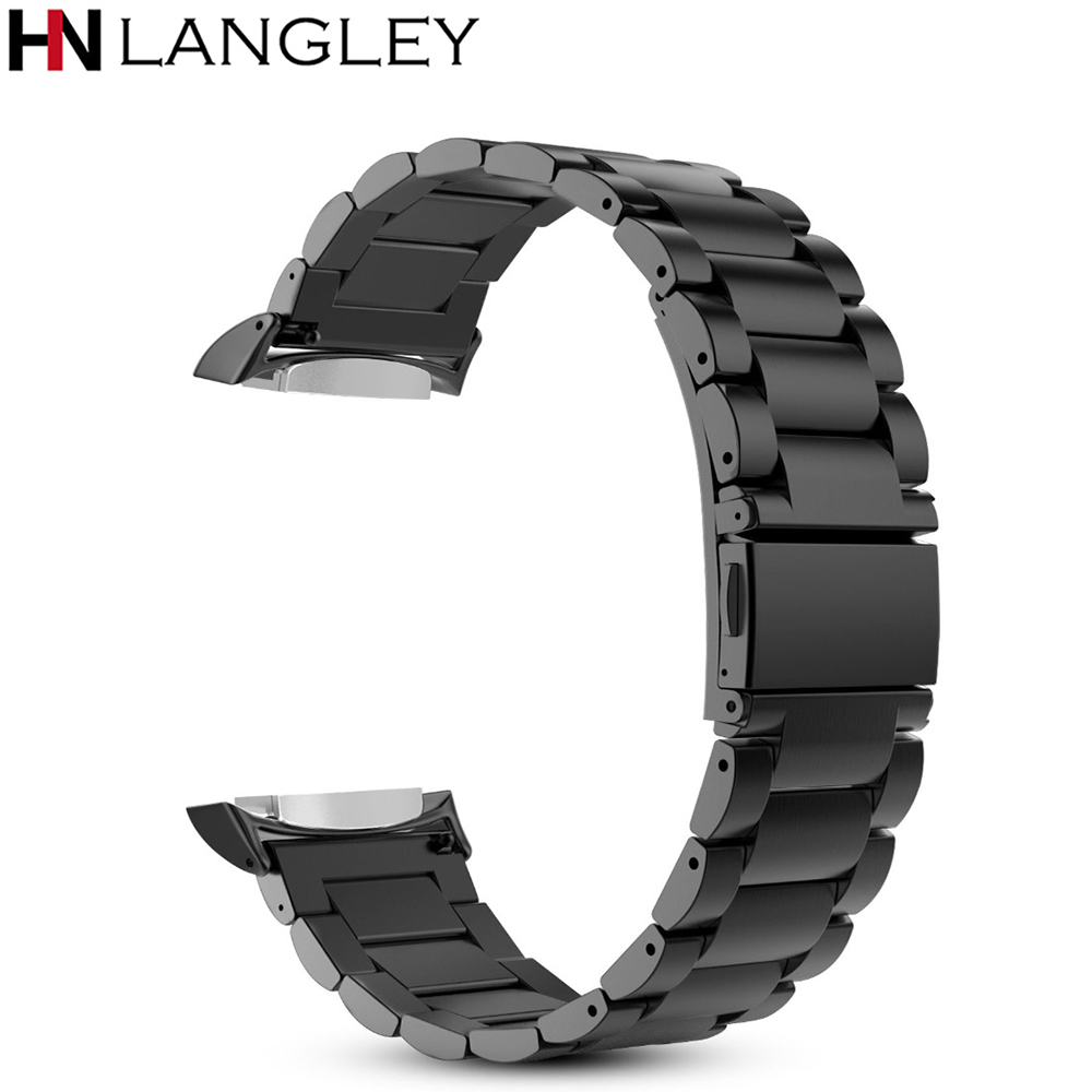 For Gear S2 Watch Band Stainless Steel Metal Replacement Strap Wrist Bands For Samsung Gear S2 SM-R720 / SM-R730 Smart Watches