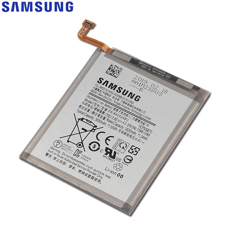 Original Replacement Samsung Battery EB BA202ABU For GALAXY A20e Genuine Phone Battery 3000mAh in Mobile Phone Batteries from Cellphones Telecommunications