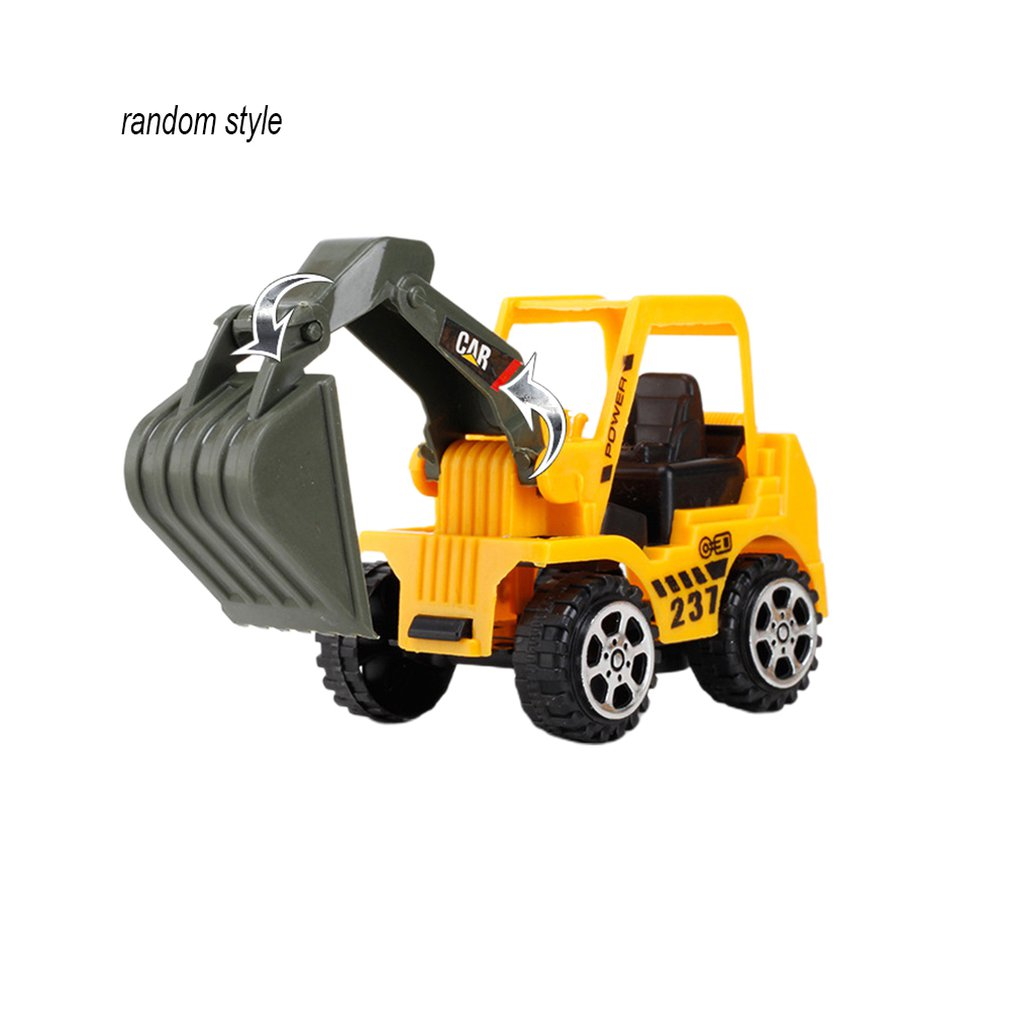 Boy Toy Car Excavator Color Random Child Inertia Model Engineering Car Gift Supermarket Gift Excavator