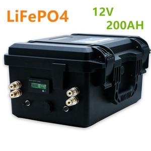 Lifepo4 12V 200ah battery pack 12V lifepo4 200AH lithium ion battery pack built-in BMS for inverter,RV,boat,solar system(China)