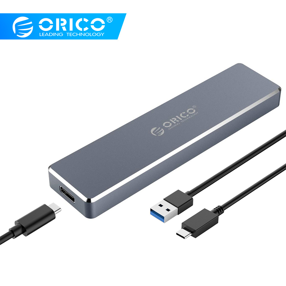 ORICO M.2 SSD Enclosure USB3.1 Gen2 Type-C High Speed 10Gbps For NVME PCIE NGFF SATA M/B Key SSD Disk Aluminum Hard Drive Box
