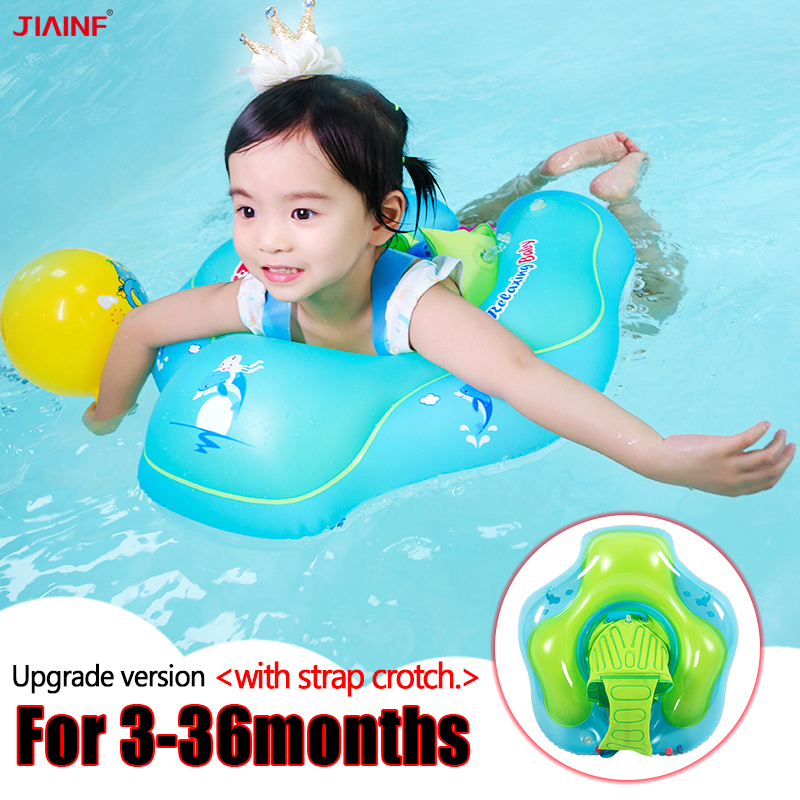 JIAINF Baby Swimming Ring Inflatable Armpit Floating Swim Pool Accessories Bathing Inflatable Double Raft Rings For Kids Toys