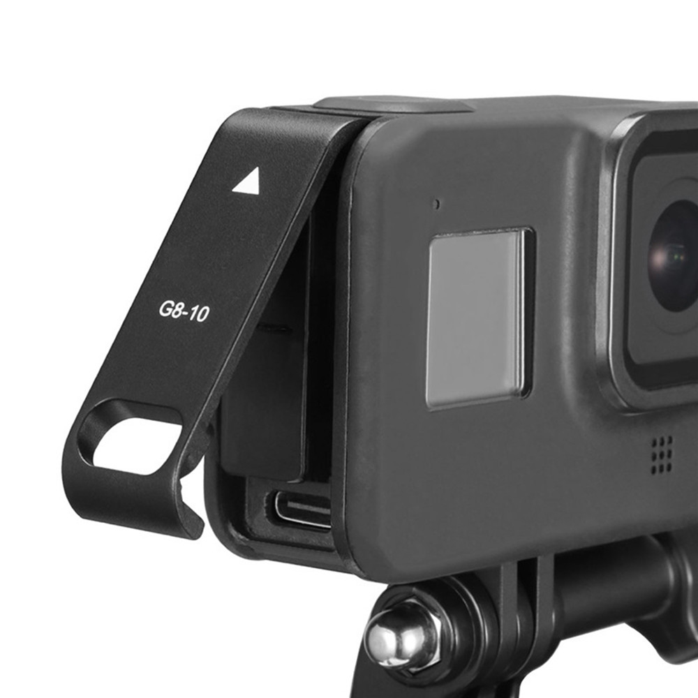 Rechargeable Side Protective Cover Battery Lid for GoPro Hero 8 Sports Camera Dustproof Battery Door Housing Case Cover