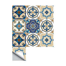 10Pcs Moroccan Style Tile Stickers Waterproof Wall Stickers Bathroom Art Decor,6x6 Inch(China)