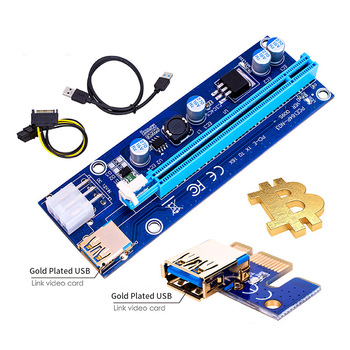 VER006S PCI-E Riser Card 60CM USB 3.0 Cable PCI Express 1X to 16X Extender PCIe Adapter for GPU Miner Mining