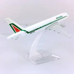 16 см 1:400 Boeing B777-200 модель Alitalia Италия самолет с базовым сплавом самолет коллекционный дисплей игрушка модель Коллекция