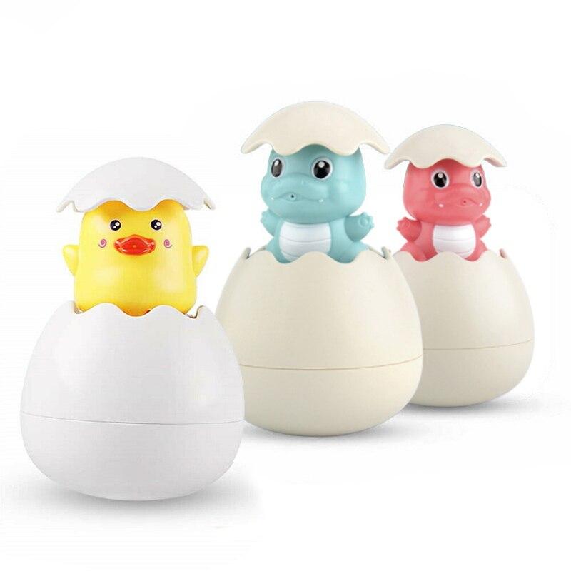 1pc Cute Kids Baby Bathing Swimming Shower Toy Funny Cartoon Duck Penguin Egg Random Color Water Spray Sprinkler Toy