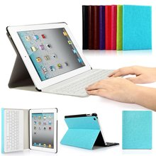 Case For IPad 2/3/4 9.7 SmartShell Stand Cover With Magnetically Detachable Wireless Bluetooth Keyboard Case Layout detachable official removable original keyboard station stand case cover