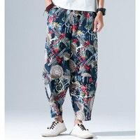 2019 Sinicism Mens Linen Cotton Pants Full Length Summer Loose Light Casual Linen Trousers Man Leisure Home Comfortable Pants