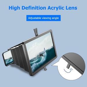 Image 4 - 14 携帯電話画面拡大鏡ブラケットスタンドスマートフォンデスクトップ増幅引伸映画ビデオディスプレイアンプ