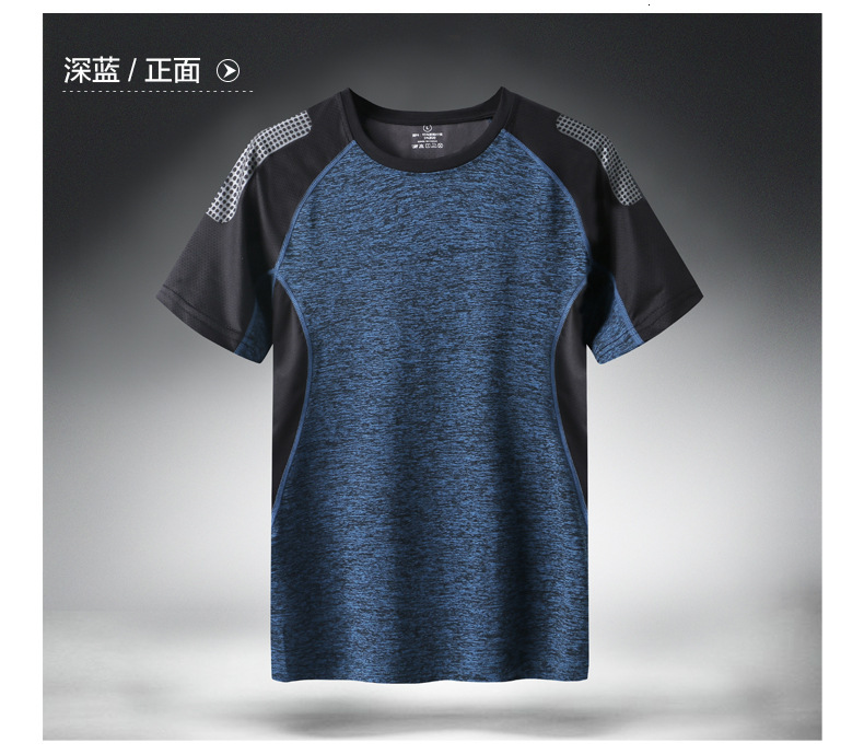 H316389a88b1b465fb7a95d02daf4d6ffG - Quick Dry Sport T Shirt Men Short Sleeves Summer Casual Cotton Plus Asian Size M-5XL 6XL 7XL Top Tees GYM Tshirt Clothes