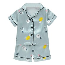 Girl Boys Shirt Pant Set Summer 2019 Kids Girls Pajamas