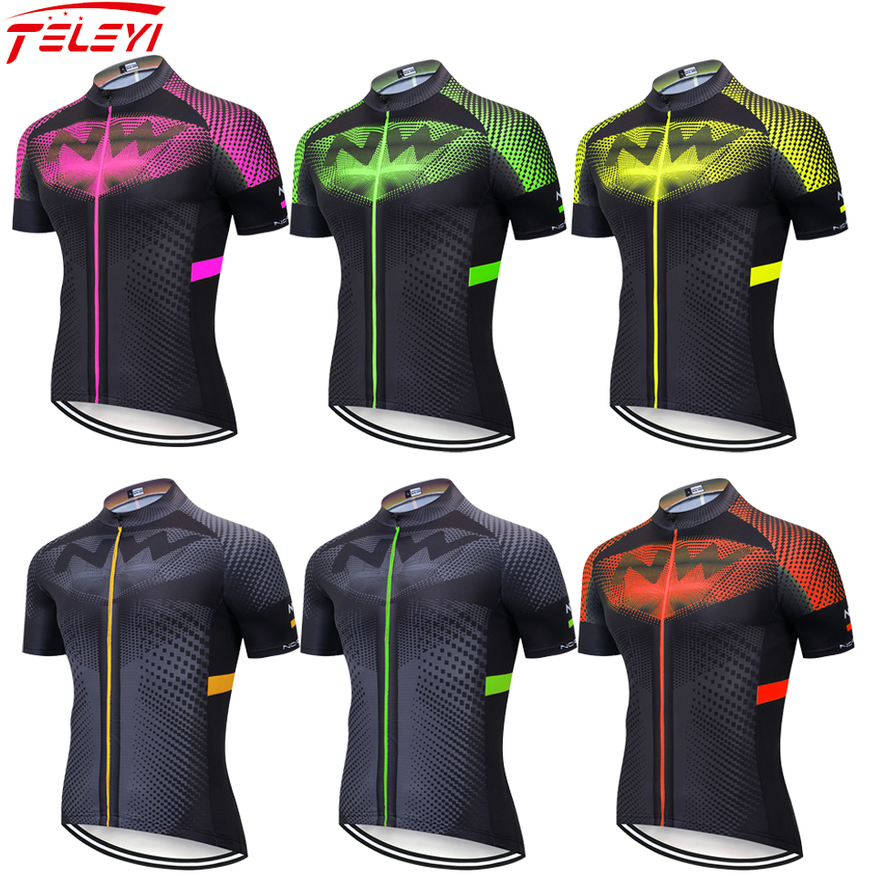 <font><b>2019</b></font> <font><b>NW</b></font> <font><b>Northwave</b></font> Men's Cycling Jerseys Short Sleeve Bike Shirts MTB Bicycle Jeresy Cycling Clothing Wear Ropa Maillot Ciclismo image