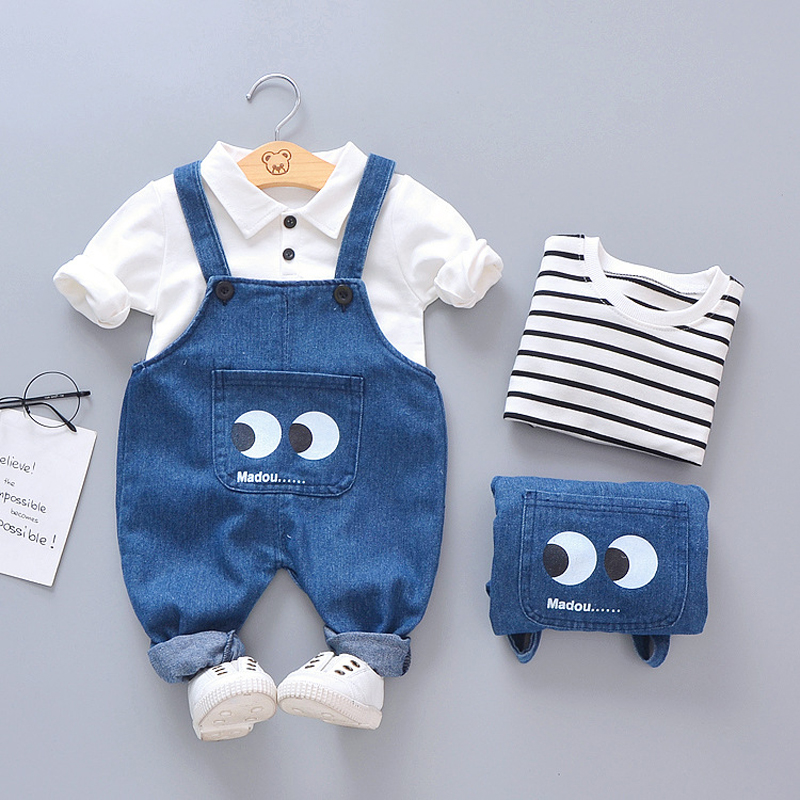 Summer Baby Boys Clothes 2020 Autumn Winter Newborn Baby Clothing Casual Strap Suit Outfit Infant Clothing Sets 6 9 12 24 Month