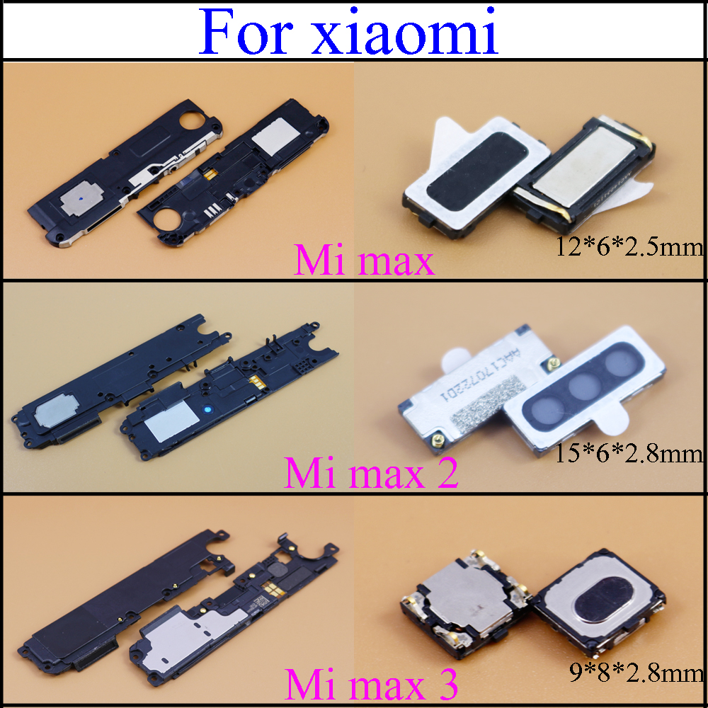YuXi Ear Speaker Earpiece Loudspeaker Buzzer Ringer Loud Speaker Flex Cable For XiaoMi Mi Max 1 2 3 Replacement