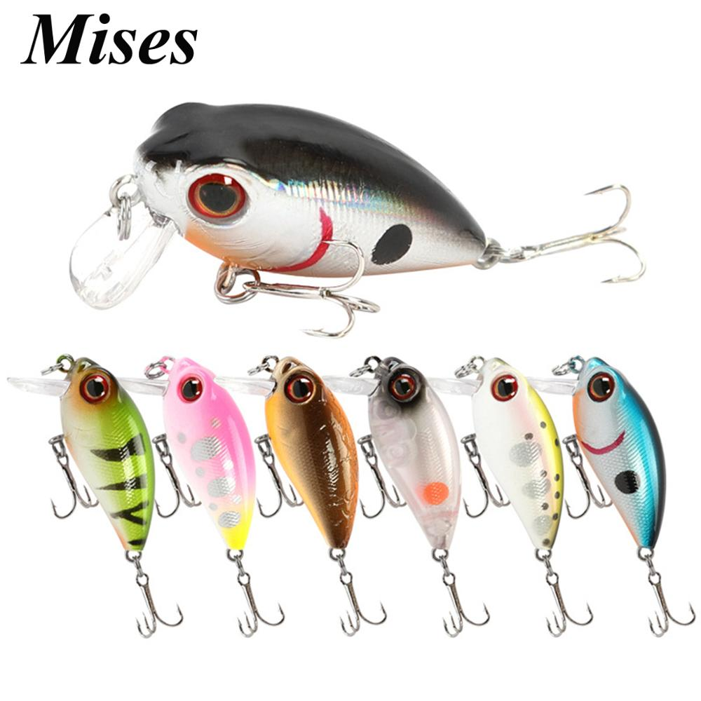 Mises 3.8cm 3.4g Ten Colors Mini Floating Bionic Crank Little Fatty Lure Artificial Bait Hard Bait Fishing Lure Fishing Tackles