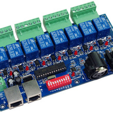 1 шт. 8CH DMX 512 светодиодный контроллер DMX512 диммер реле выход декодер Max 10A WS-DMX-RELAY-8CH