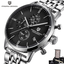 Pagani Japanese Quartz Watch Men Full Stainless Steel Diving Mens Watches Chronograph Date Business Male Clock Man Top Relogio olevs cool function man s watches waterproof date mesh steel strap chronograph watch business male clock quartz men wristwatches