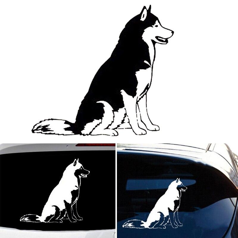 12*137 см Автомобильная наклейка сибирская Хаски виниловая собака