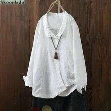 newest sleeve linen women tops s- 5xl plus size casual fashion cotton linen lady