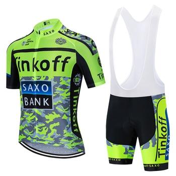 Ciclismo Jersey 2020 thinkoff saxo manga corta Maillot de bicicleta 20D pantalones...