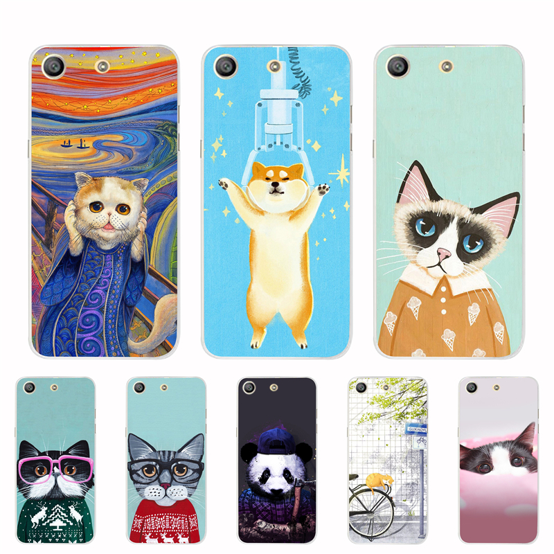 For Sony M5 Case For Sony Xperia M5 Cute Cover Silicone TPU Animals For Sony Xperia M5 Dual E5633 E5603 Back Covers Coque Capa
