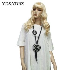 Женское ожерелье ручной работы, ожерелье в стиле бохо, ожерелье из резины, колье, цепочка для свитера, винтажная мода