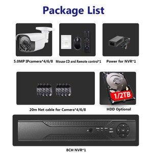 Image 2 - IP камера видеонаблюдения HD, МП, POE, ии, распознавание лица, обнаружение движения, Onvif, POE, комплекты видеорегистратора, 5 МП, RJ45, POE48V, металлическая