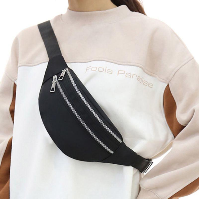 Universal Sports Travel Waist Bag Wear-resistant Nylon Waist Pack Phone Pouch Men Women Fanny Packs Purse Chest Bag
