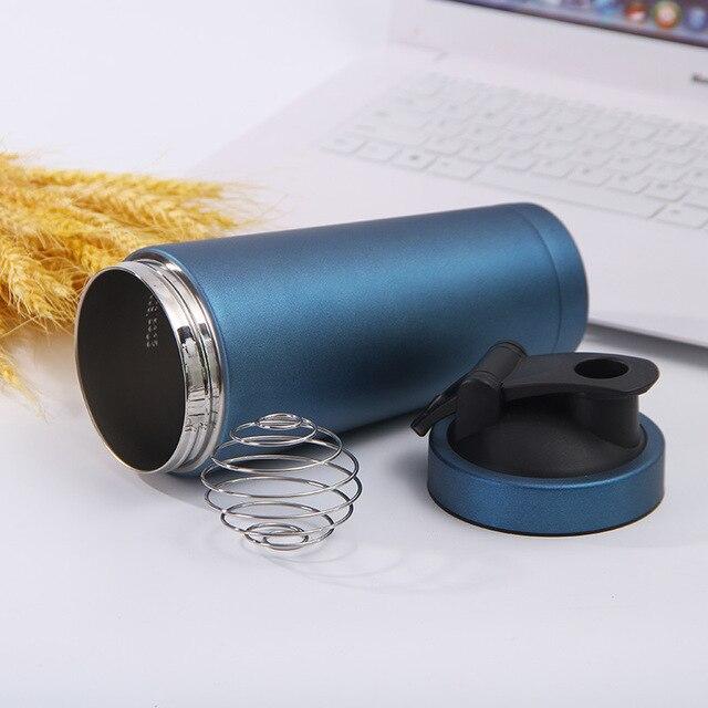 Stainless Steel Protein Shaker Bottle Gym Shake Kettle Sport Milkshake Mixer Water Bottle Whey Protein for Fitness BPA-Free 3