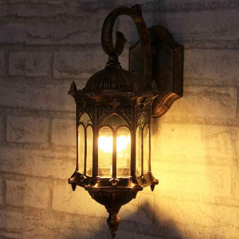 ヨーロッパスタイルヴィンテージアクリル壁ランプ装飾ウォールライト廊下灯屋外バルコニーパビリオンヴィラ庭