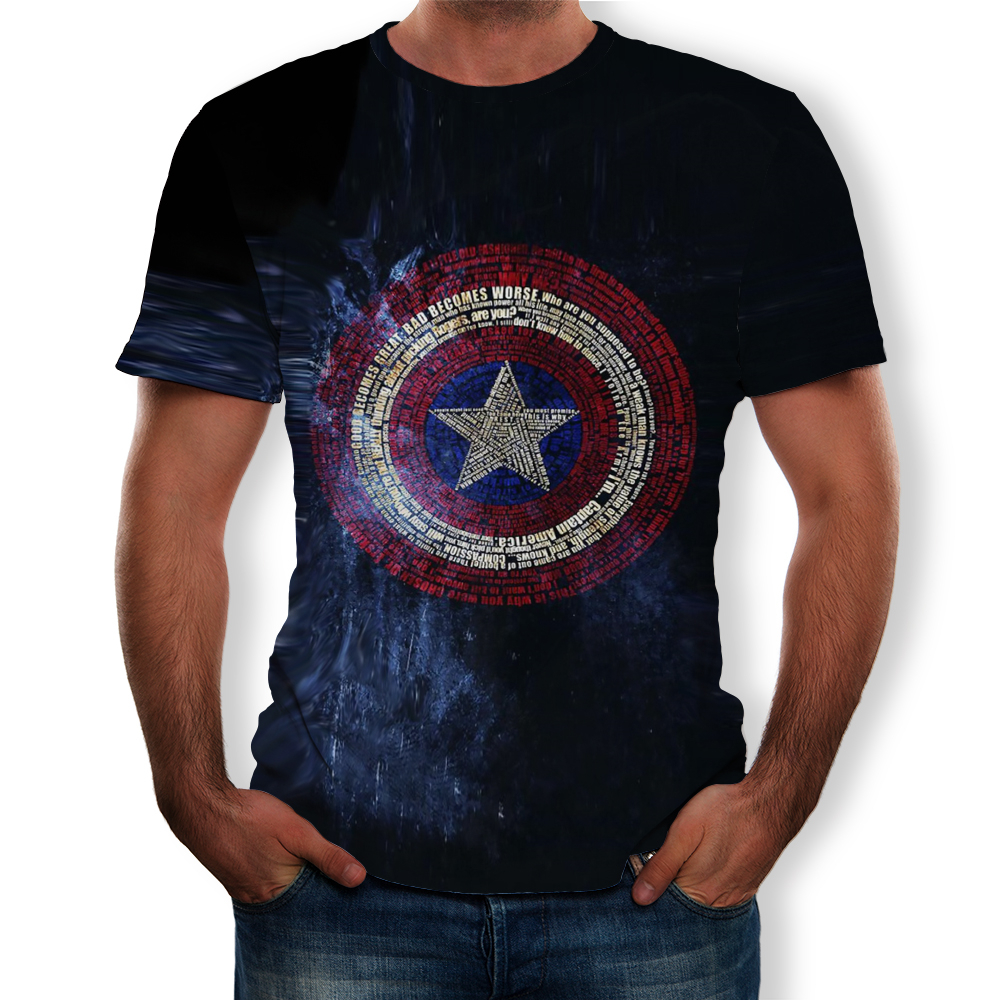Hydra Captain American 3D Printed T Shirts Men Summer Style Short Sleeve Male Casual Brand T-shirt Superhero Tops Cool Tees