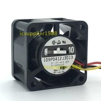 109P0412J3013 DC=12V 7V to 13.2V 0.35A Fan  16.2CFM 44dB(A) 40X40X28mm 4CM 4028