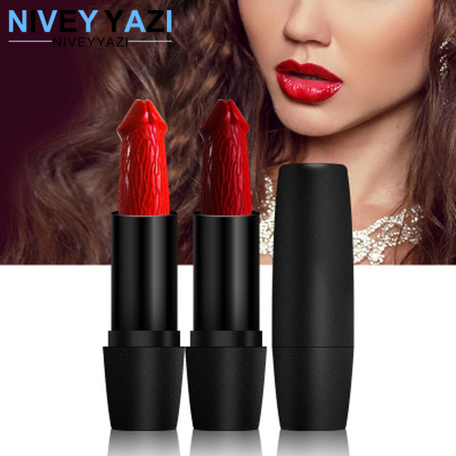 20 Colors Penis Shape Lipstick Mushroom Lipstick Long Lasting Moisture Cosmetic Matte Lipstick Lips Red Lip Waterproof Makeup