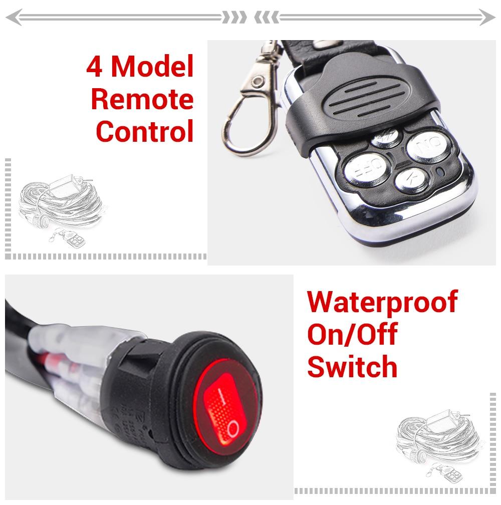 amp relé fusível on-off-strobe controle remoto interruptor impermeável vermelho 2 chumbo