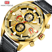 MINI FOCUS Top Brand Sport Watch For Men Luxury Casual Men Watches Fashion Leather Quartz Wrist Watch Men Waterproof Chronograph casima luxury brand watches men sport top fashion multi function luminous casual men s quartz wrist watch waterproof 100m 8202