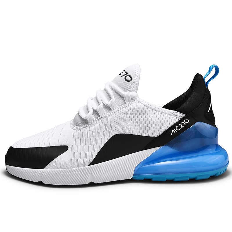 Marka yeni koşu ayakkabıları erkekler için hava yastığı örgü nefes aşınmaya dayanıklı sıcak 2019 Fitness eğitmeni spor ayakkabılar erkek Sneakers