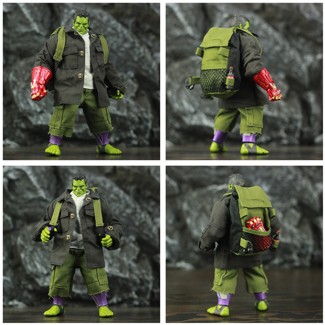 Avengers Endgame Hulk with Infinity Gauntled, Quantum Suit, Coat and Pants 8inch. 4