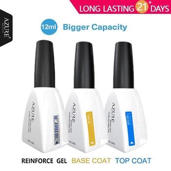 Azure Beauty 12ml gel polish gel nail polish soak off nail glue base coat + top coat Set Primer Gel Varnish Soak Off UV LED Gel