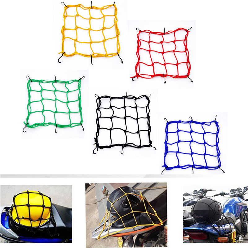 Universal Motorcycle Luggage Net Bicycle 6 Hook To Hold The Fuel Tank Luggage Net Motorcycle Helmet Storage Bag Luggage Rope Net